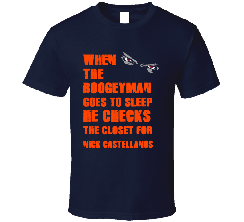Nick Castellanos Detroit Michigan Baseball Boogeyman T shirt