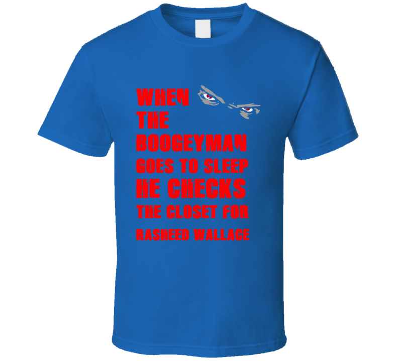 Rasheed Wallace Detroit Michigan Sports Boogeyman T shirt