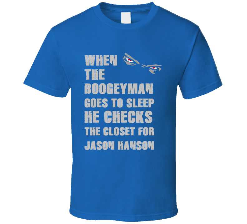 Jason Hanson Detroit Michigan Sports Boogeyman T shirt