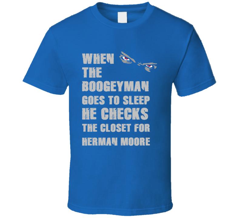Herman Moore Detroit Michigan Sports Boogeyman T shirt