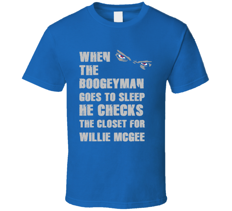 Willie McGee Detroit Michigan Sports Boogeyman T shirt
