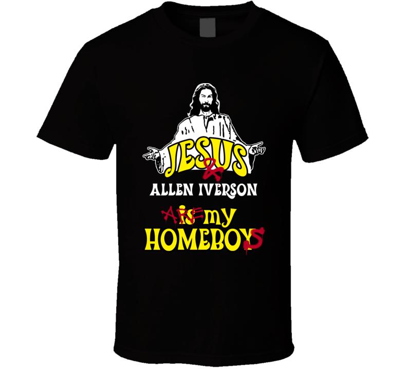 Allen Iverson Detriot Michigan Detriot Sports Jesus Homeboy T shirt
