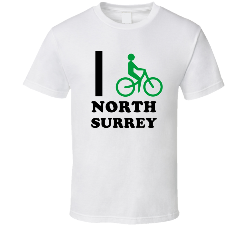 North Surrey Michigan I Bike Bicycle T Shirt