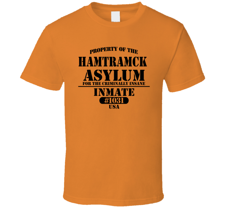 Michigan Insane Prison Asylum T Shirt