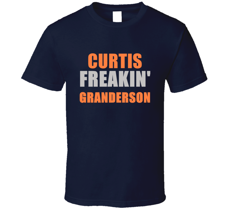Curtis Granderson Freakin Detroit Michigan Baseball Sports T Shirt