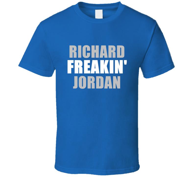 Richard Jordan Freakin Football Detroit Sports Michigan T Shirt