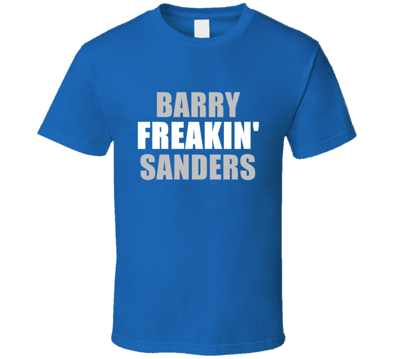 Barry Sanders Freakin Football Detroit Sports Michigan T Shirt