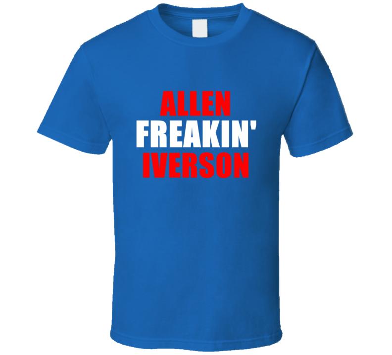 Allen Iverson Freakin Basketball Sports Detroit Michigan T Shirt