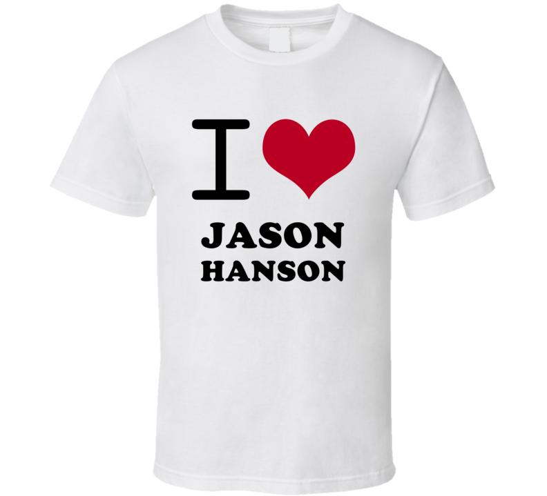 Jason Hanson I Heart Love Football Detroit Sports Michigan T Shirt