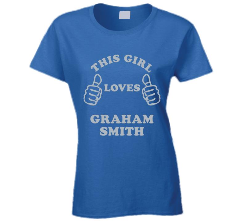 Graham Smith This Girl Loves Football Detroit Sports Michigan T Shirt