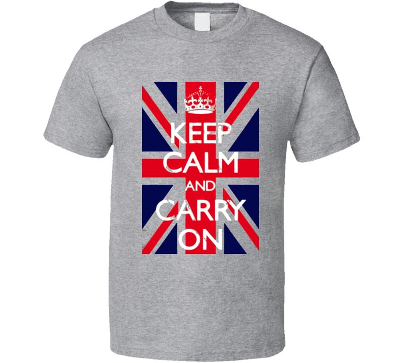 Keep Calm British Retro T Shirt