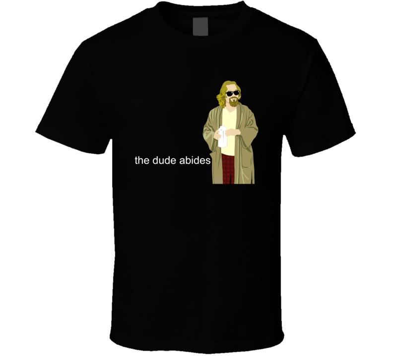 Big Lebowski Dude Abides T Shirt