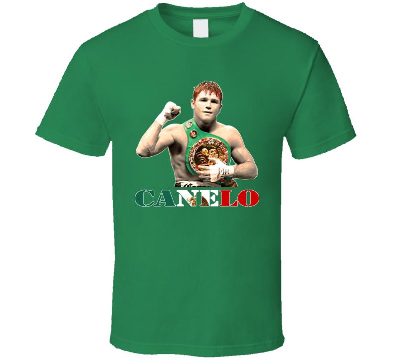 Saul Canelo Alvarez Mexican Mexico Boxing Boxer T Shirt