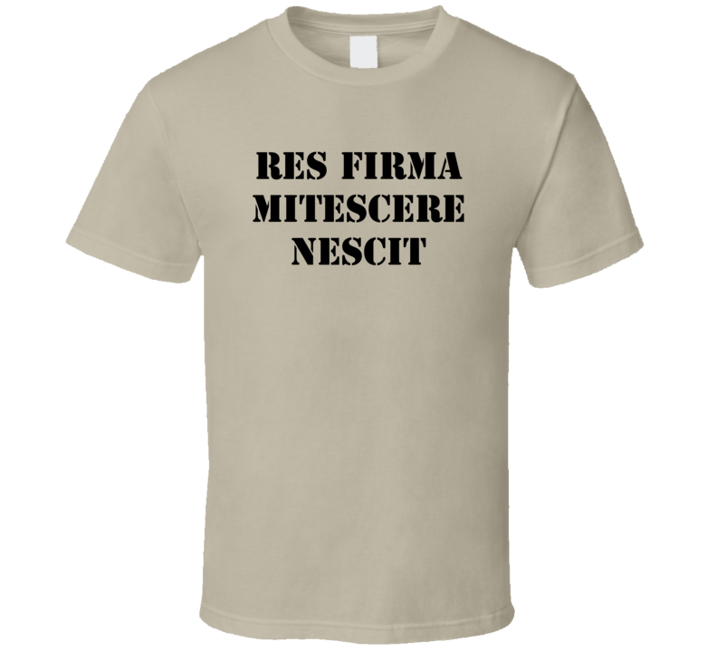 Res Firma Mitescere Nescit American Flyers Movie T Shirt