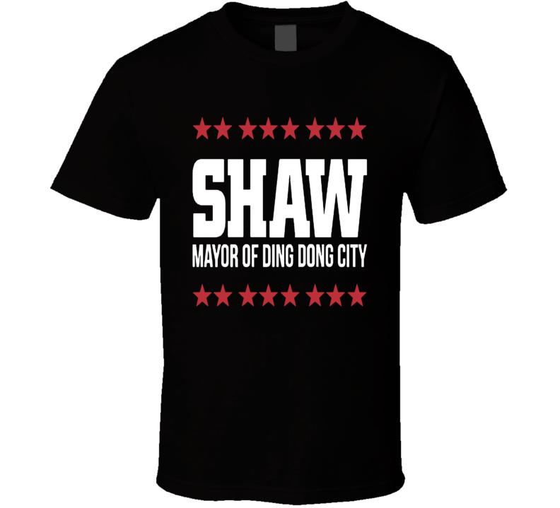 Travis Shaw Mayor Of Ding Dong City Boston Baseball T Shirt