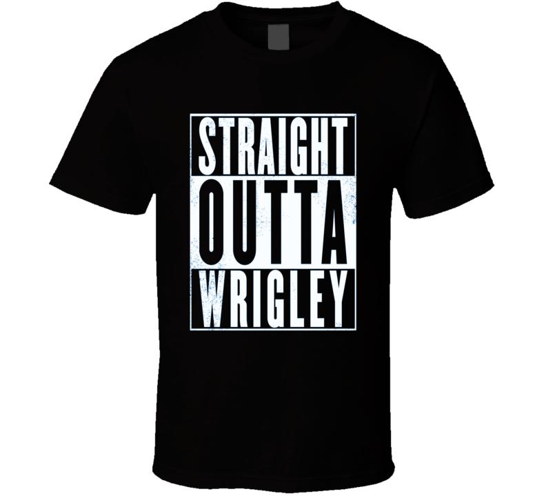 Chicago Straight Outta Wrigley Chicago Baseball Retro T Shirt