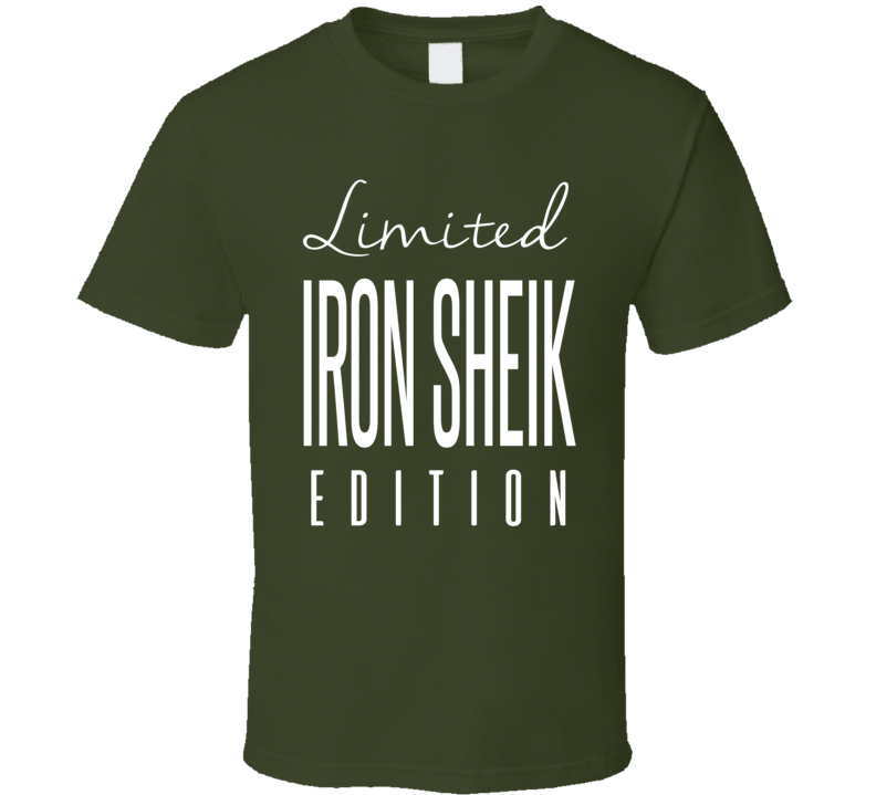 Iron Sheik Limited Edition Classic Wrestling T Shirt