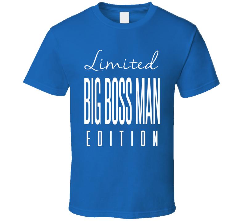Big Boss Man Limited Edition Classic Wrestling T Shirt