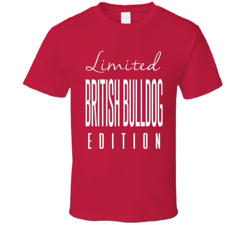 The British Bulldog Limited Edition Classic Wrestling T Shirt