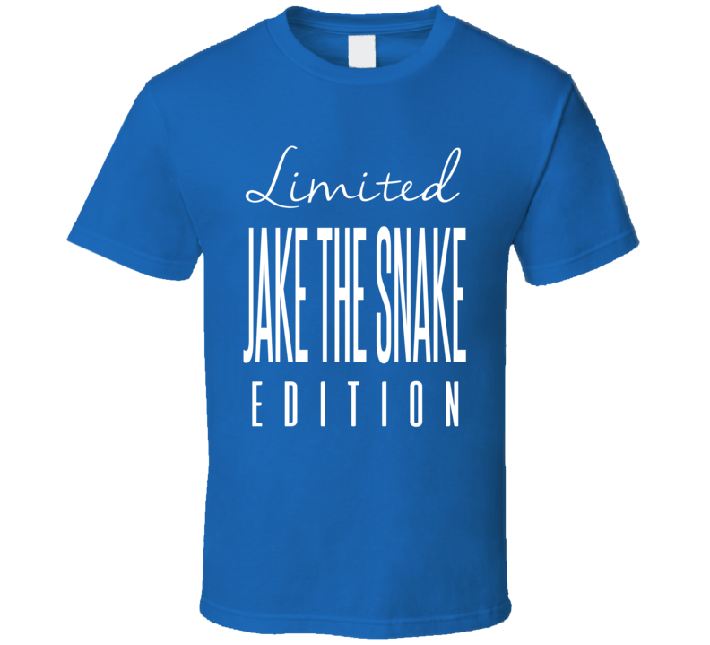 Jake The Snake Limited Edition Classic Wrestling T Shirt