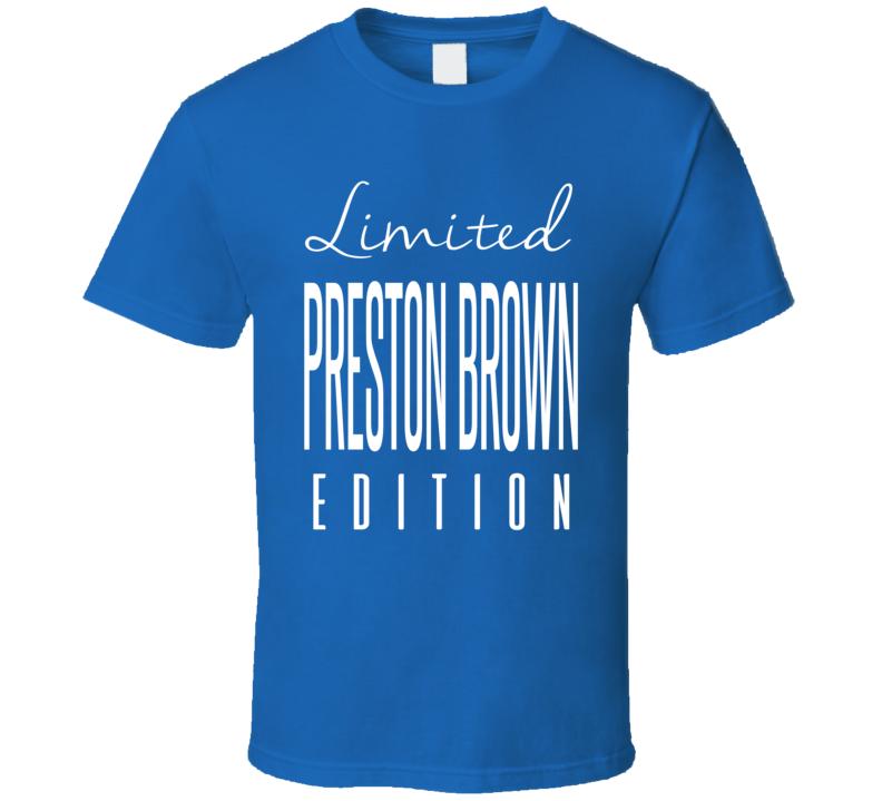 Preston Brown Limited Edition Buffalo Football T Shirt