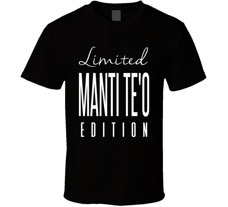 Manti Teo Limited Edition New Orleans Football T Shirt