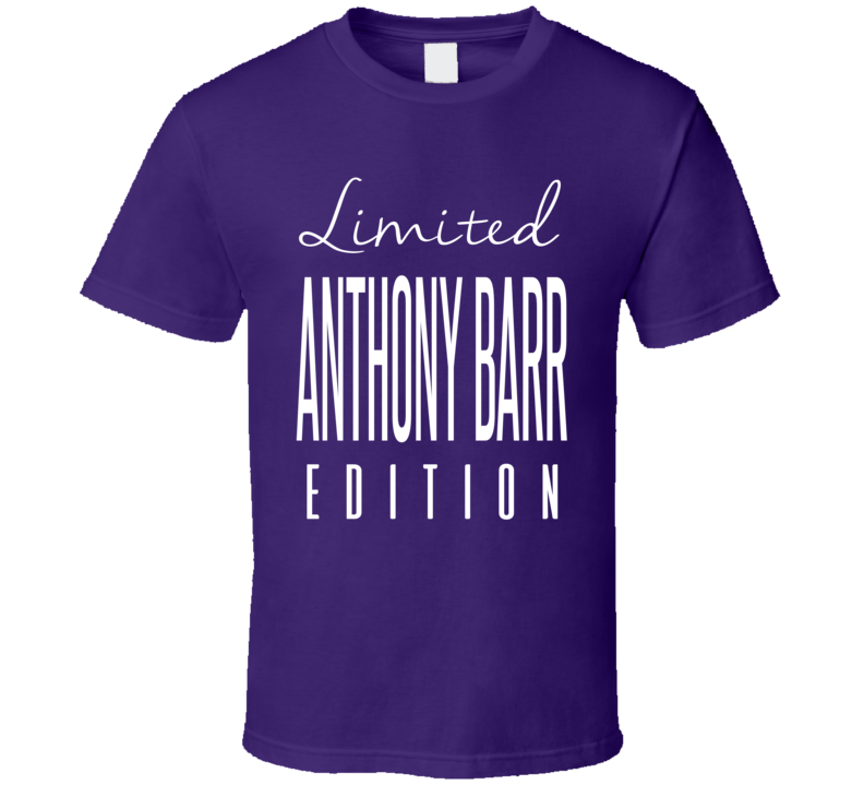 Anthony Barr Limited Edition Minnesota Football T Shirt