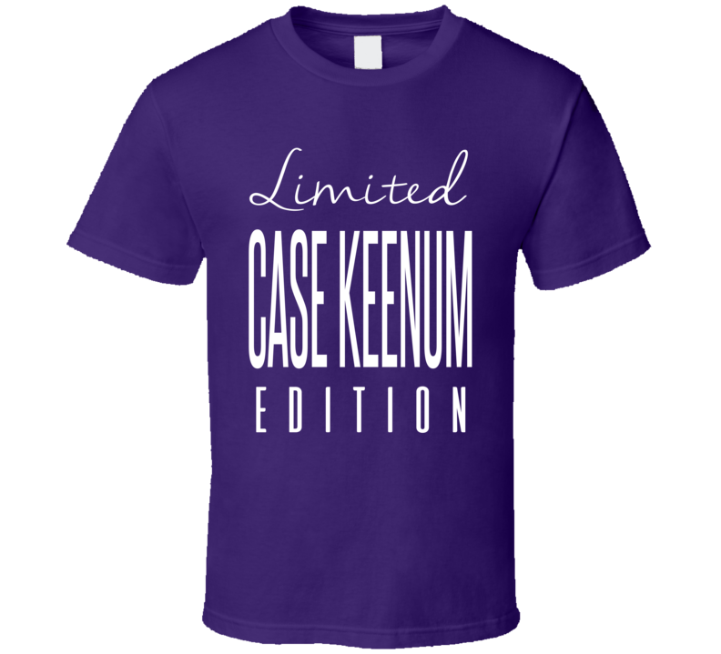 Case Keenum Limited Edition Minnesota Football T Shirt