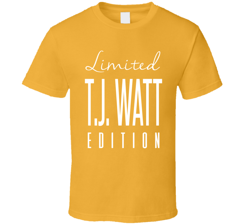 Tj Watt Limited Edition Pittsburgh Football T Shirt
