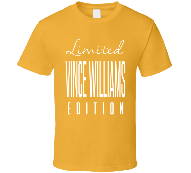 Vince Wiliams Limited Edition Pittsburgh Football T Shirt