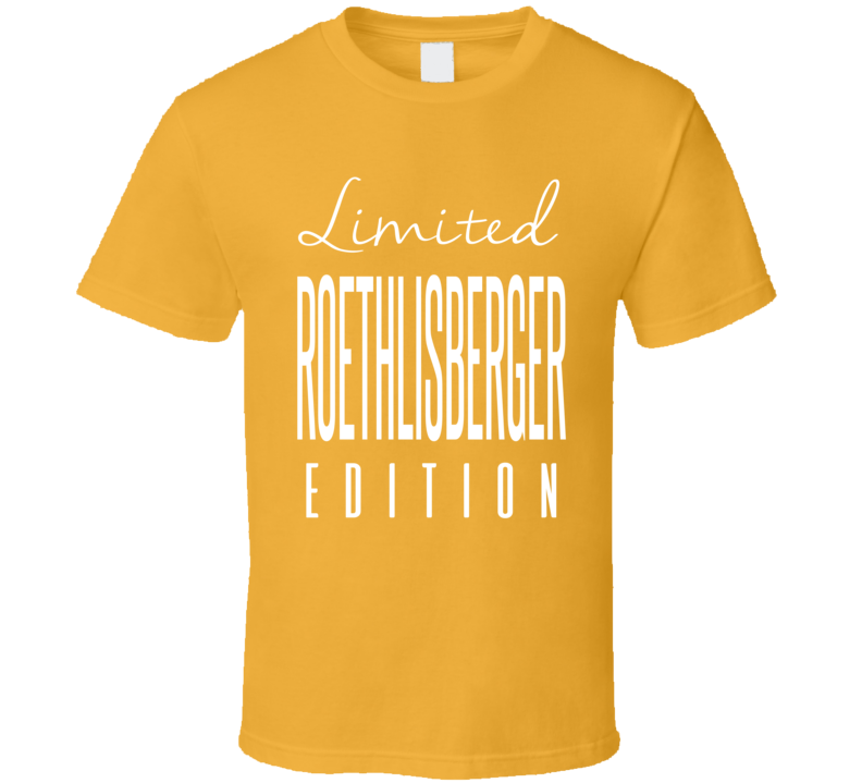 Ben Roethlisberger Limited Edition Pittsburgh Football T Shirt