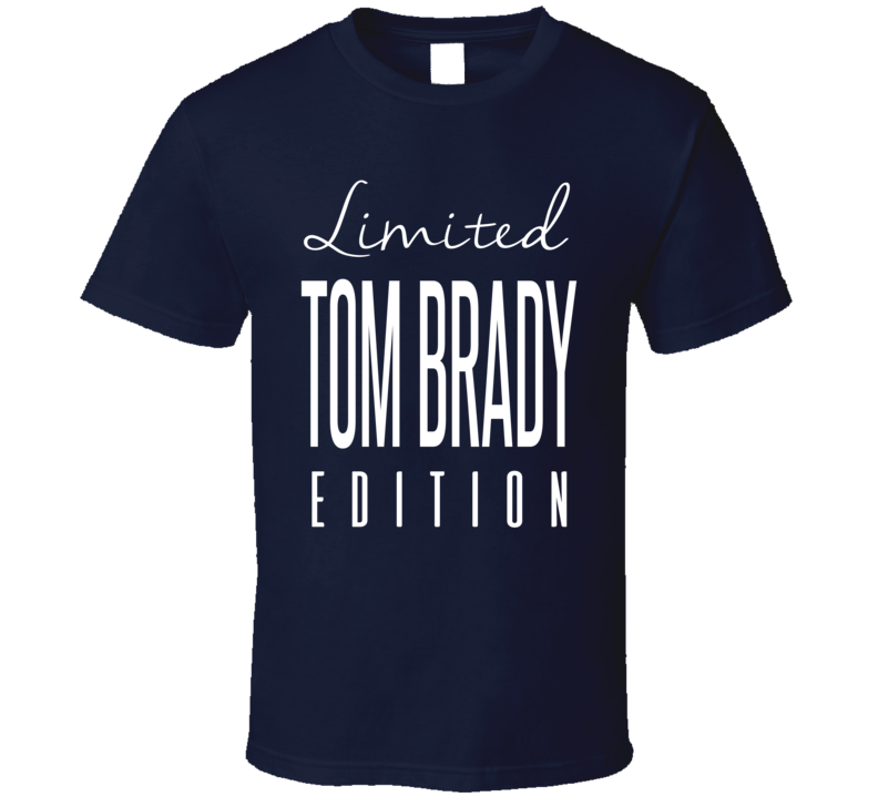 Tom Brady Limited Edition New England Football T Shirt
