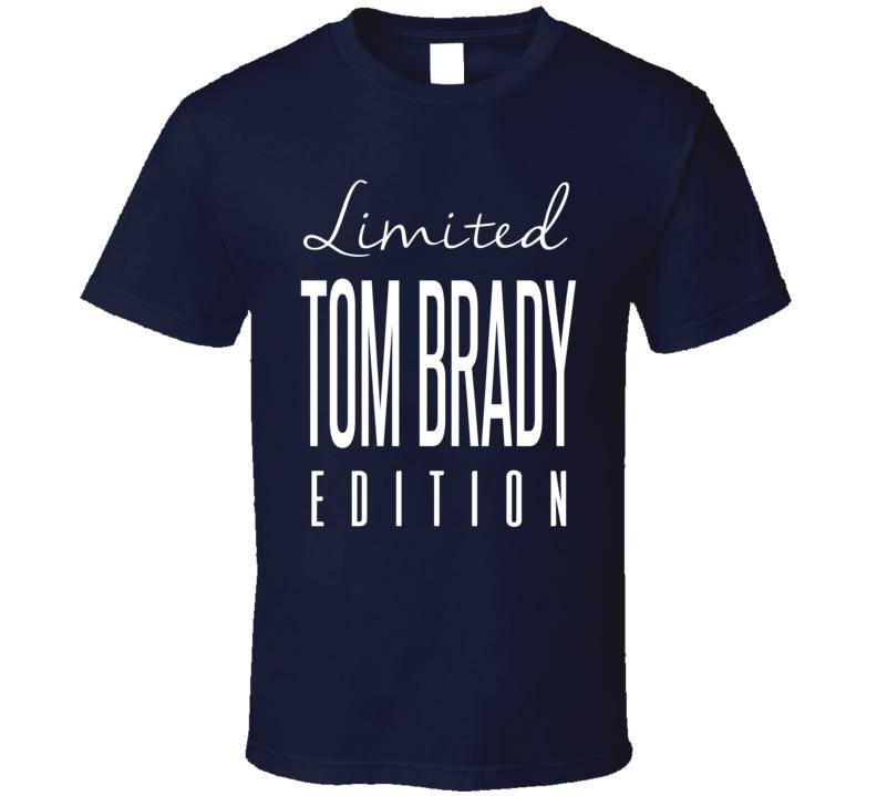 Tom Brady Limited Edition New England Football T Shirt