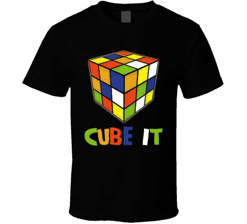Cube It Retro Rubiks 80s Toy T Shirt