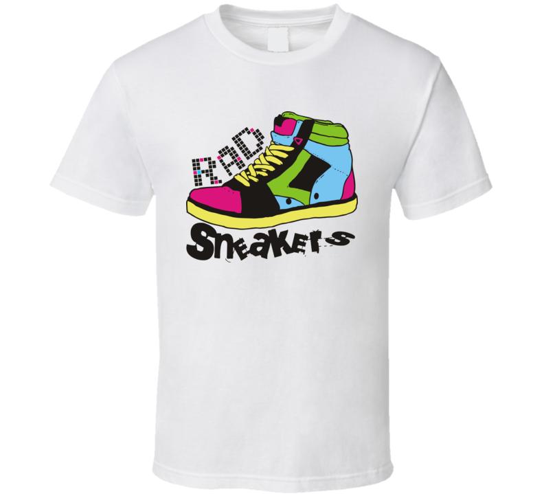Rad 80s Sneakers Funny Joke T Shirt