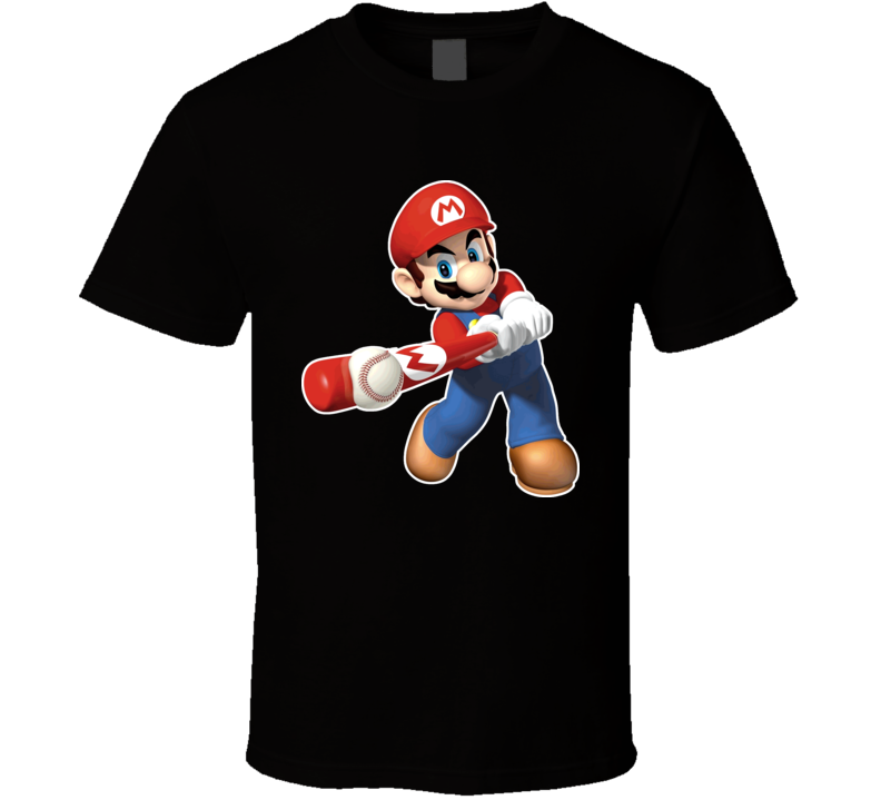 Super Mario Baselball Video Game T Shirt