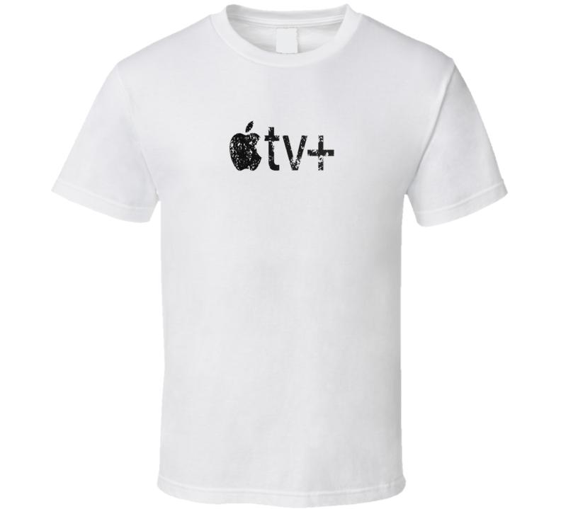 Apple Tv Streaming Fan Cool Distressed Grunge Logo T Shirt