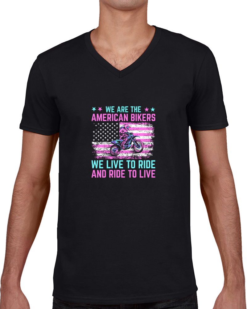 We Are The American Bikers  T Shirt