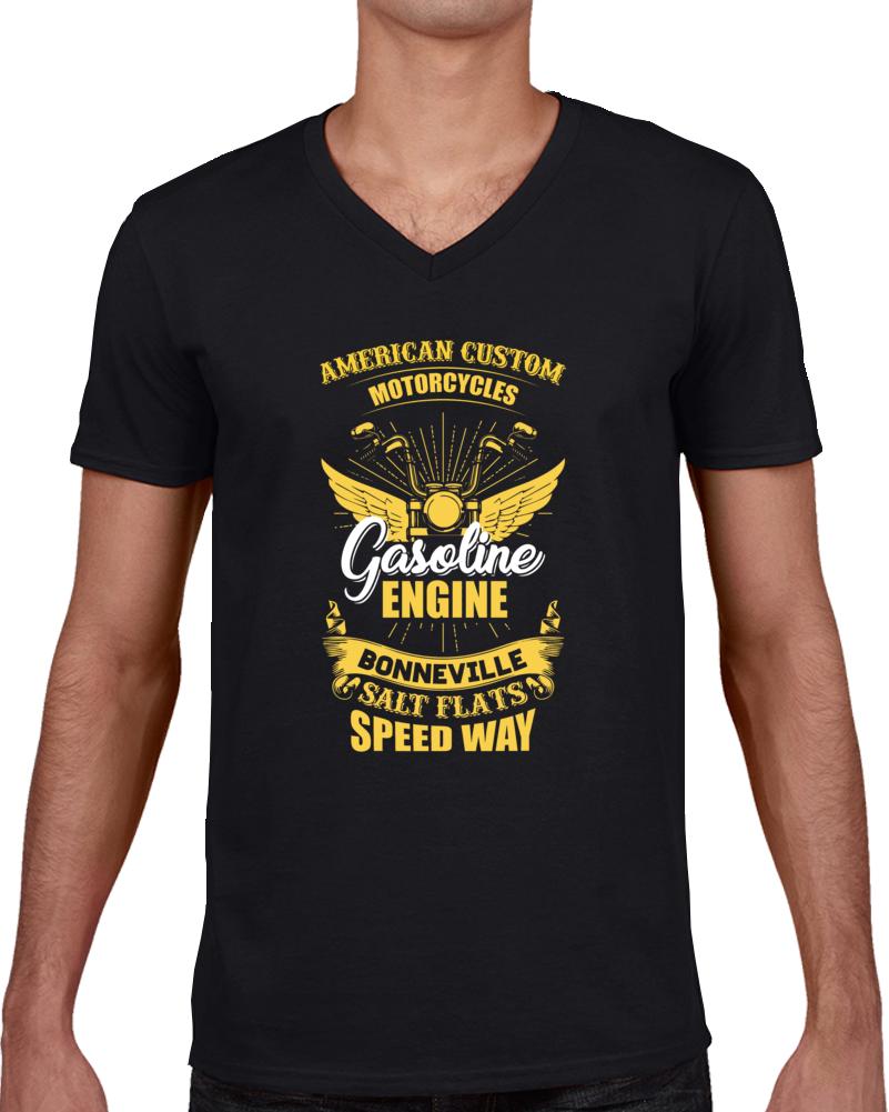 American Custom Motorcycle  T Shirt