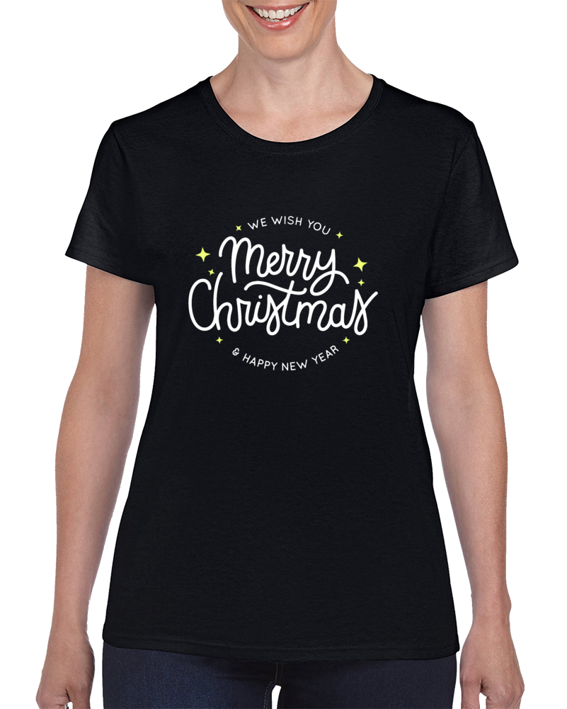 Merry Christmas And Happy New Year  Ladies T Shirt