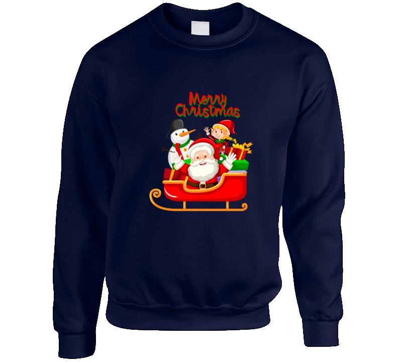 Santa Merry Christmas Crewneck Sweatshirt