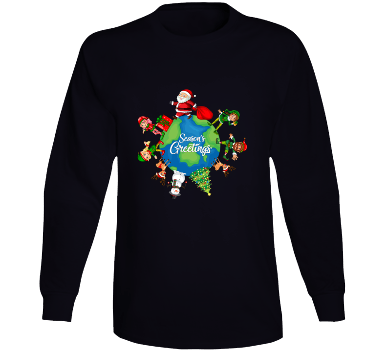 Season's Greetings Long Sleeve T Shirt