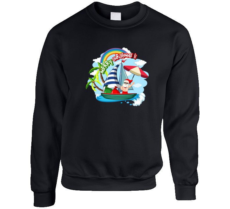 Santa Holiday Crewneck Sweatshirt