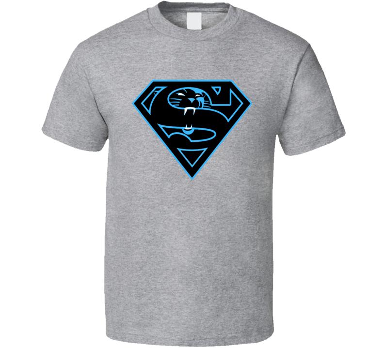 Carolina Panthers Superman Cam Newton NFL Sports  T Shirt