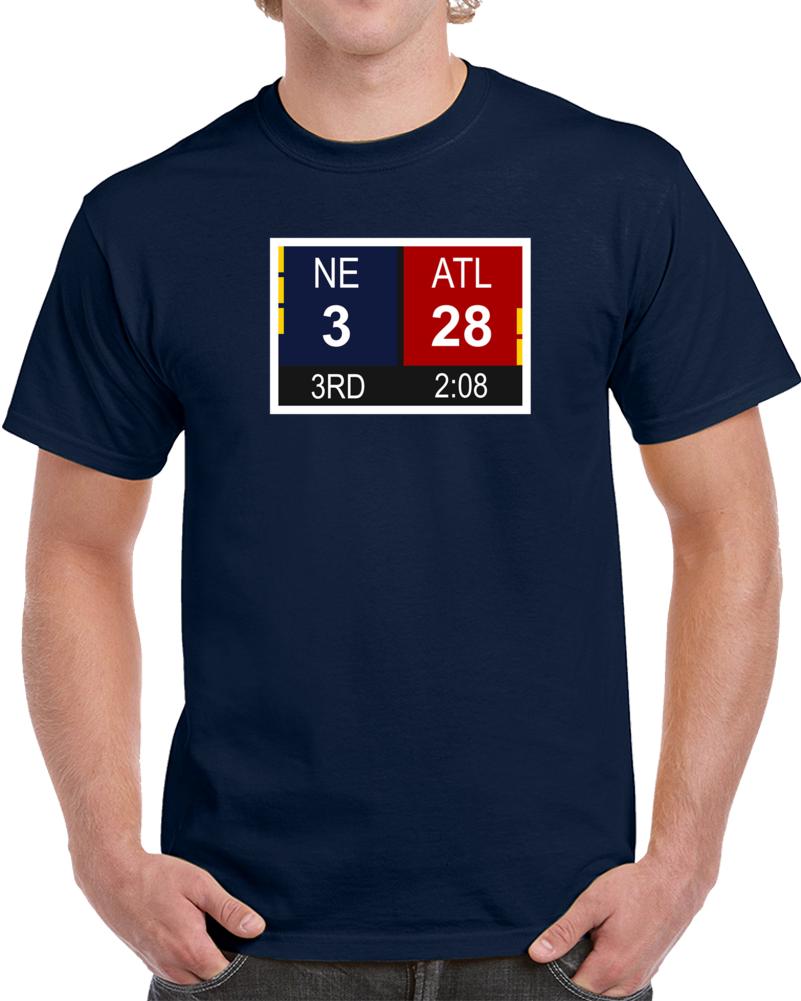 Superbowl Li 51 Scoreboard New England Patriots Vs Atalanta Falcons T Shirt