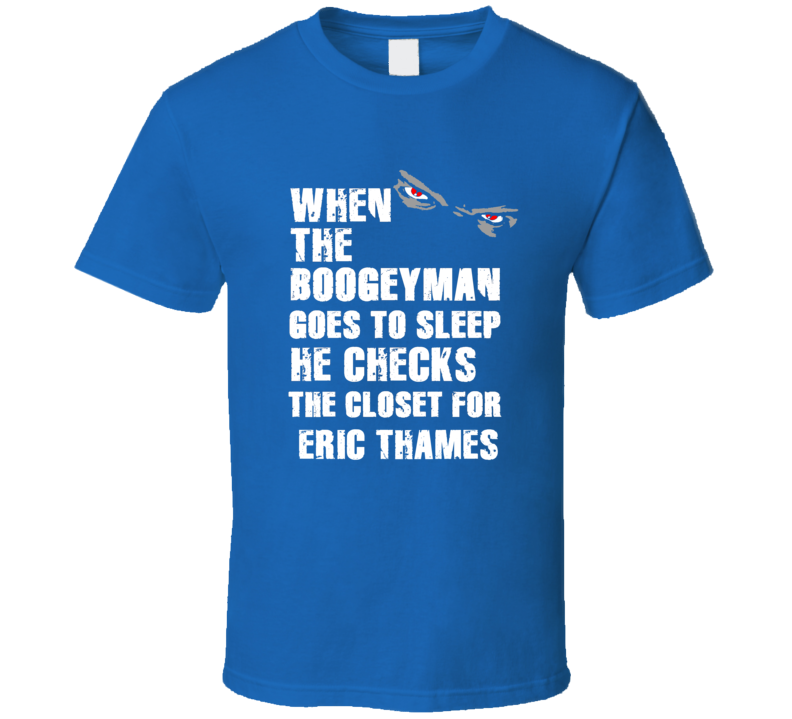 Boogeyman Eric Thames Toronto Baseball Sports Fan T Shirt
