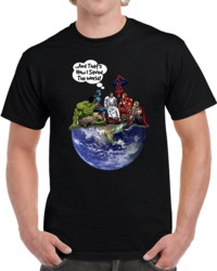 Jesus And Superheroes Earth T Shirt How I Saved The World Christian Novelty Tee