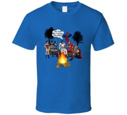 Jesus Superheroes Campfire T Shirt How I Saved The World Christian Tee