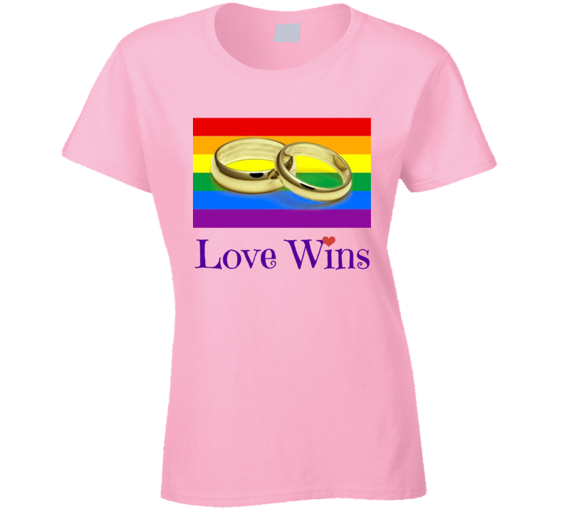 Gay Marriage Ladies T-Shirt Love Wins LGBT Civil Rights Equality Hope Tee New