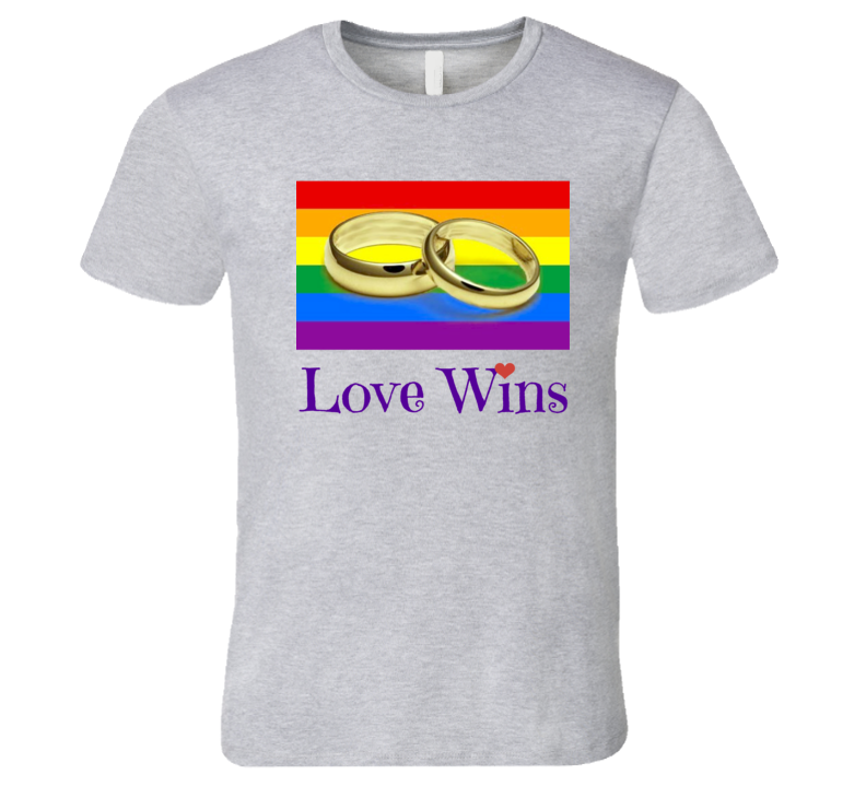 Gay Marriage Mens T-Shirt Love Wins LGBT Civil Rights Equality Hope Tee New
